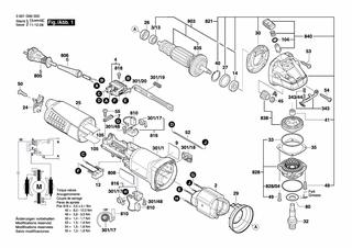 BOSCH GWS 15-125 CIPX Winkelschleifer original Bosch Ersatzteile