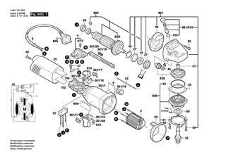 1605805079 GWS 7-115,9-125,10-125 C//CE,14-125 C//CE Bosch Lagerflansch Schwarz