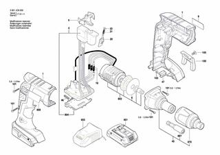 BOSCH GSR 18 V-EC TE Li Trockenbauschrauber Schrauber original Bosch Ersatzteile