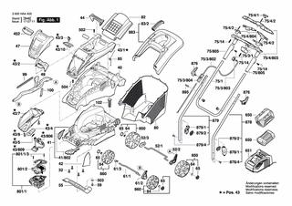 43 LI 43 Bosch Mulchzubehör MultiMulch für Rotak 40
