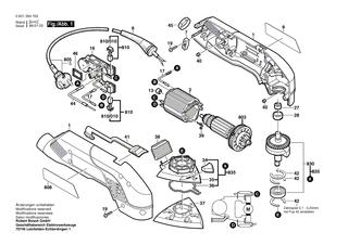 BOSCH PSS 240 AE Schwingschleifer original Bosch Ersatzteile
